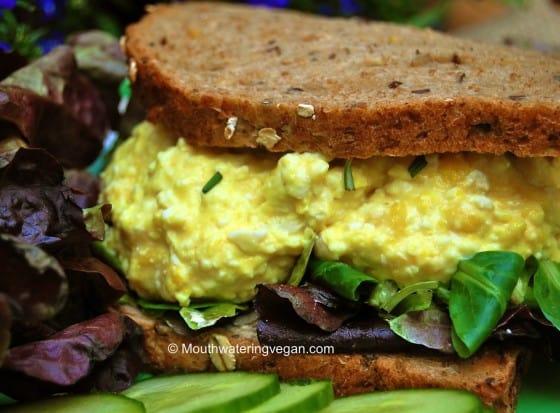 First Proper & Best-Ever Vegan 'Egg Mayonnaise' (Egg Salad) Sandwich