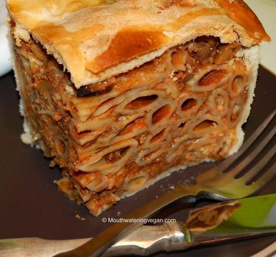 Mouthwatering Vegan Timpana – the Ultimate Naughty Pasta Pie