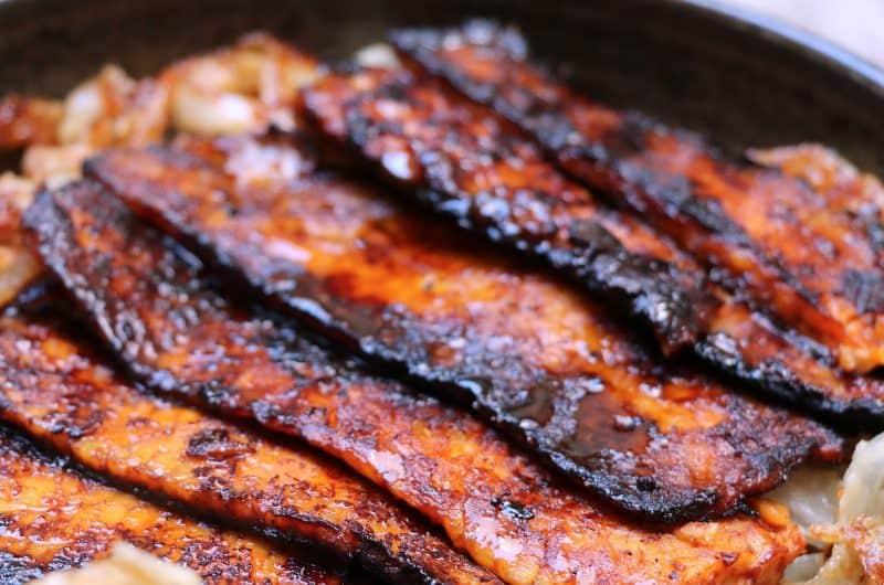 Smokey Crispy Tempeh Bacon