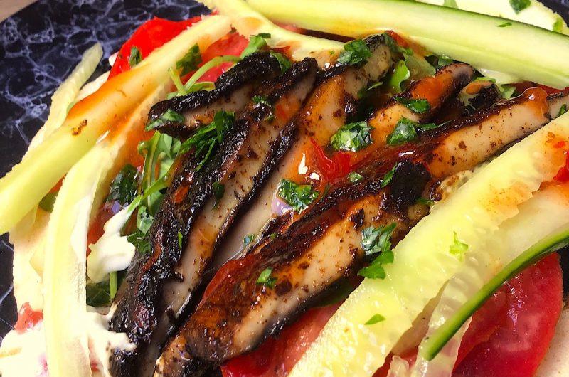 Portobello Mushroom Shawarma Kebab