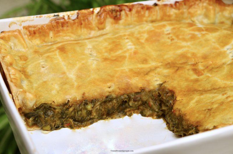 Torta Maltija - Maltese Style Spinach & 'No Anchovy' Pie
